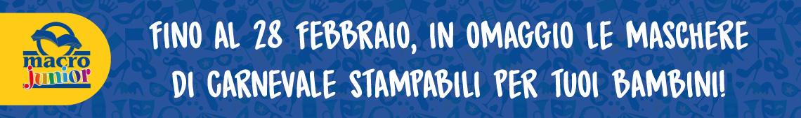 Fino al 28 febbraio, in omaggio le maschere di carnevale stampabili per tuoi bambini!
